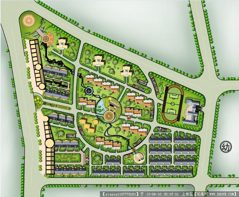 居住区绿化景观ps效果图