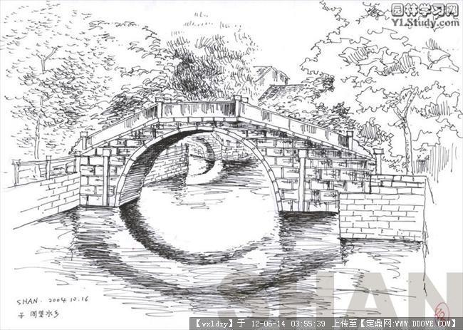 黑白手绘线稿图