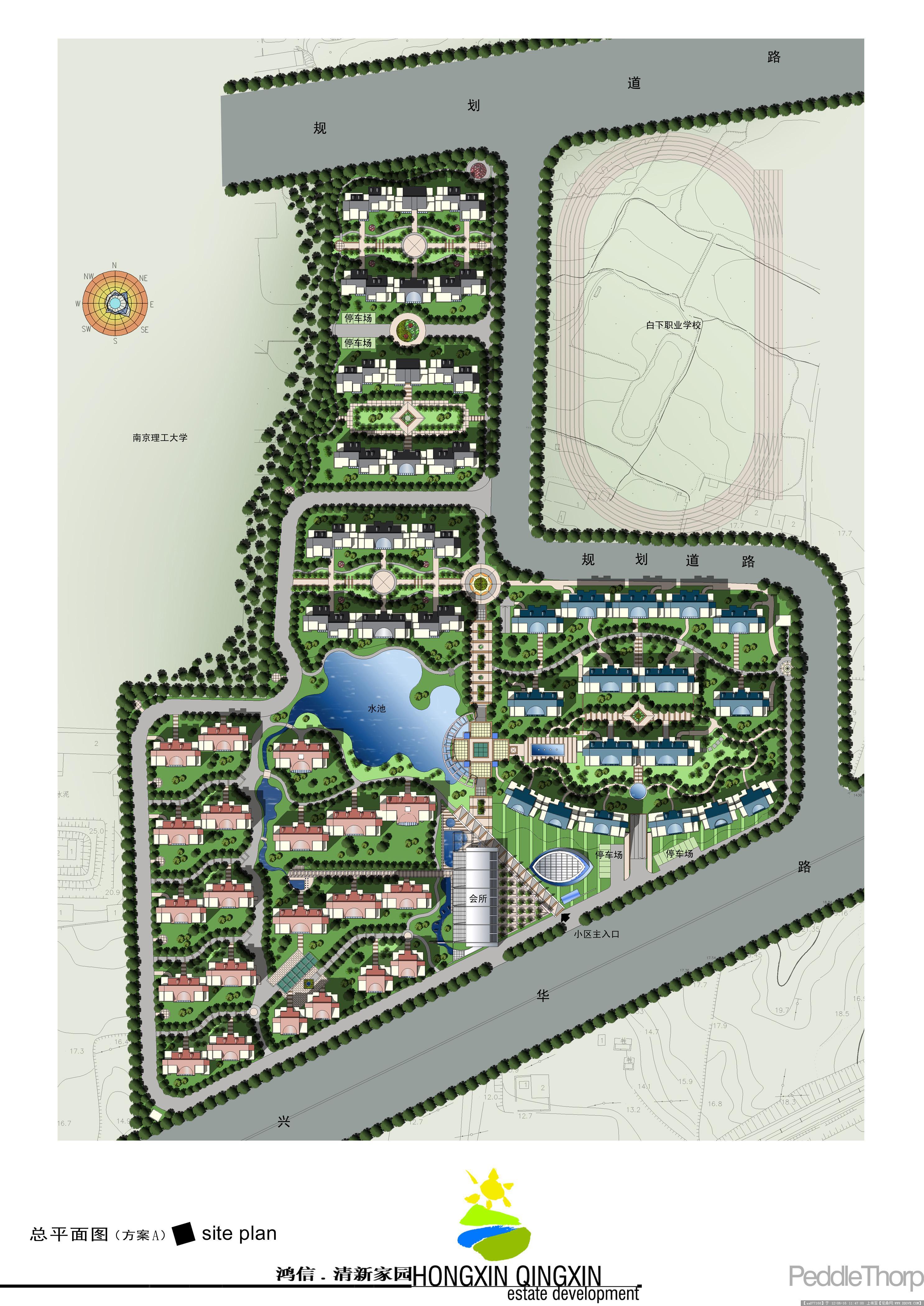 小区平面图简笔画-颐和园高清平面图