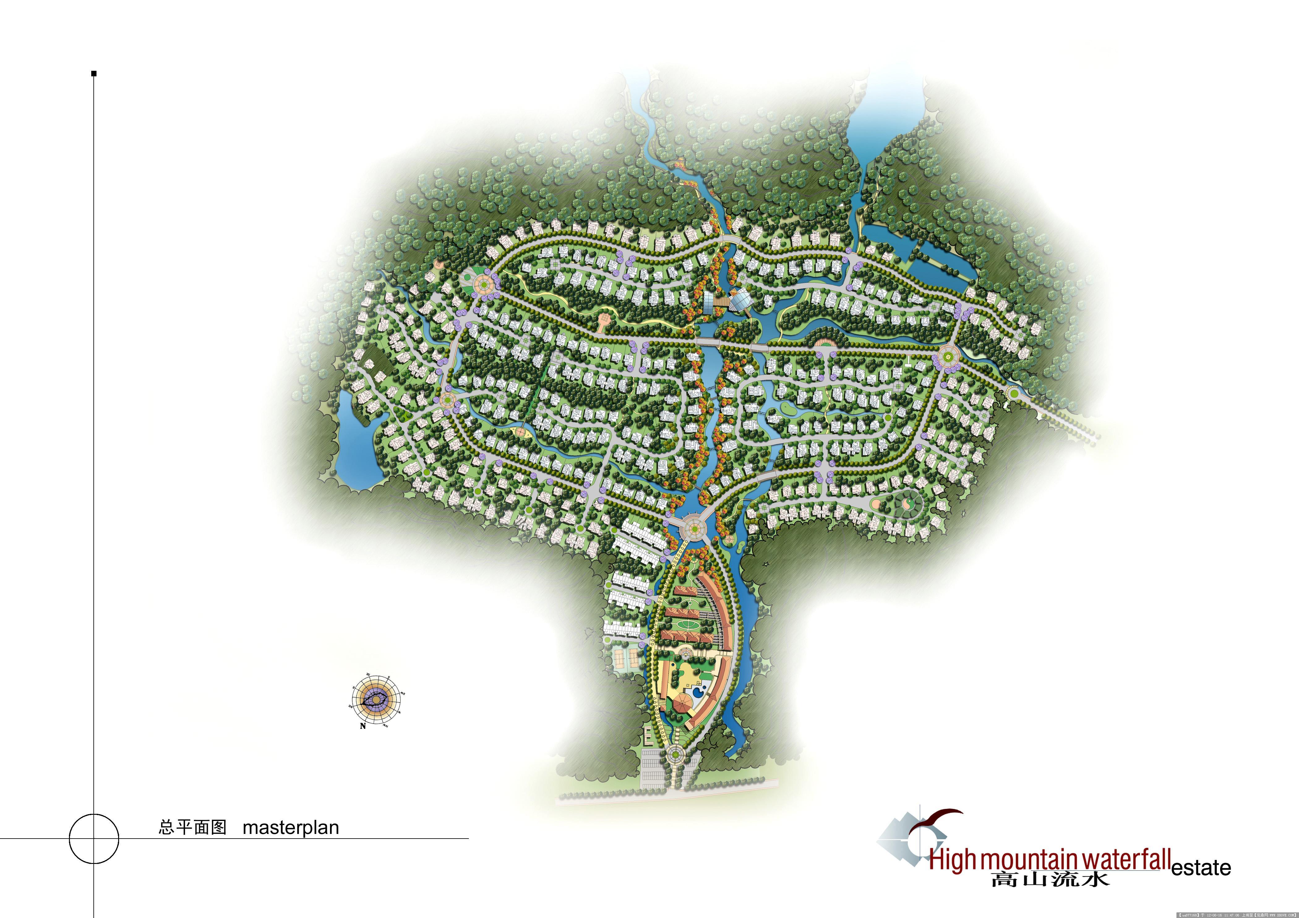 高清小区彩色平面图的图片浏览,园林效果图,居住区,_.