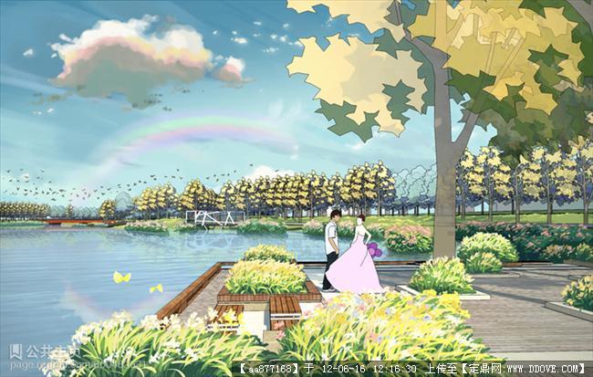 染景观设计效果图