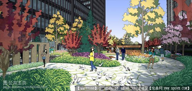 灰晕作品 su渲染景观设计效果图的下载地址,园林效果图,居