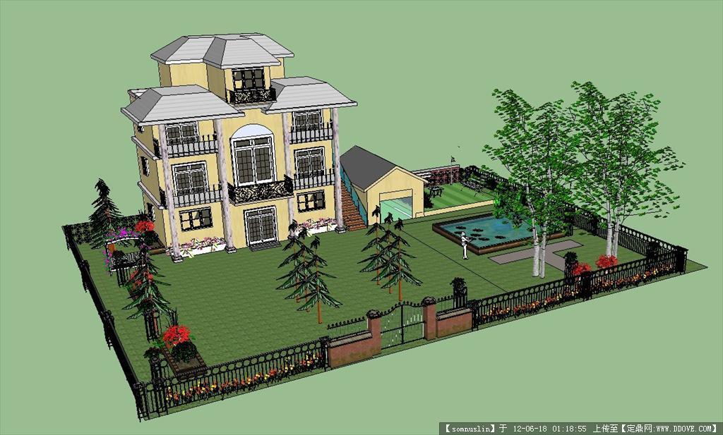 别墅建筑模型的下载地址