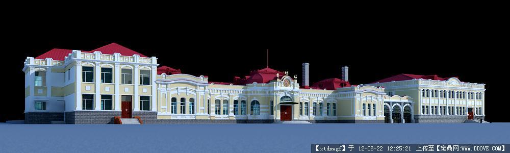 欧式建筑3dmax模型