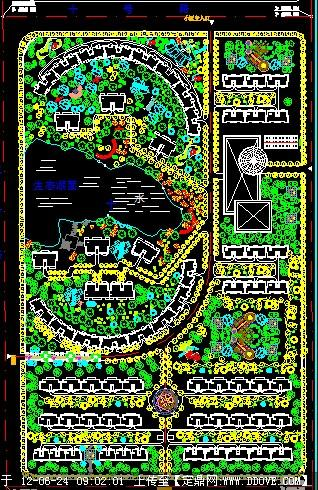居住区规划设计平面图