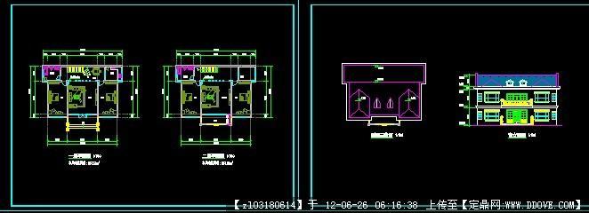 求两间两层小别墅图纸-求农村两间三层小别墅图纸