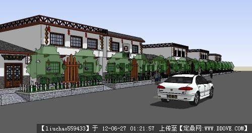 商业街su模型图片