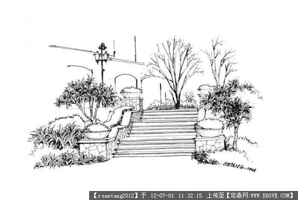 马克笔画,钢笔草图的图片浏览,园林效果图,手绘效果,.