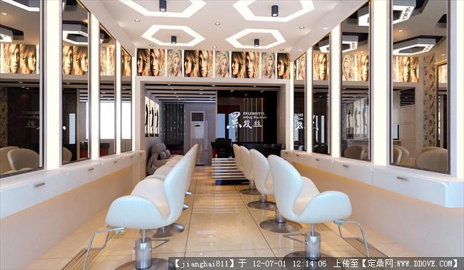 [设计图,jpg]   某美容美发店装修大厅效果图图片    (1024x597)