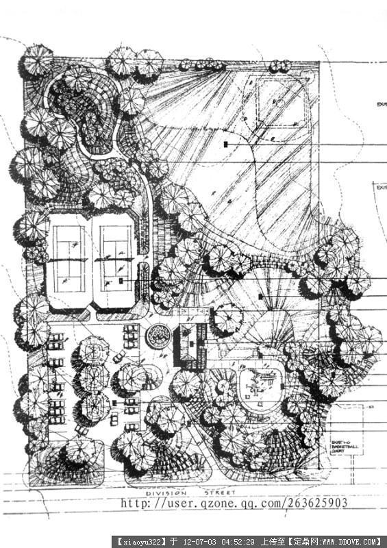收集的园林平面图