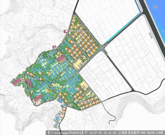 一个村庄规划总平面图