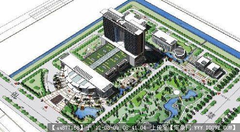 某医院规划&建筑设计su精细模型.rar