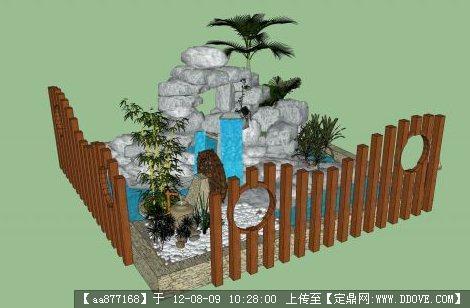 假山水池园林小品su精美模型的下载地址,sketchup草图