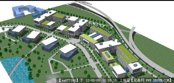 创意产业工业园概念规划设计方案精品su模型