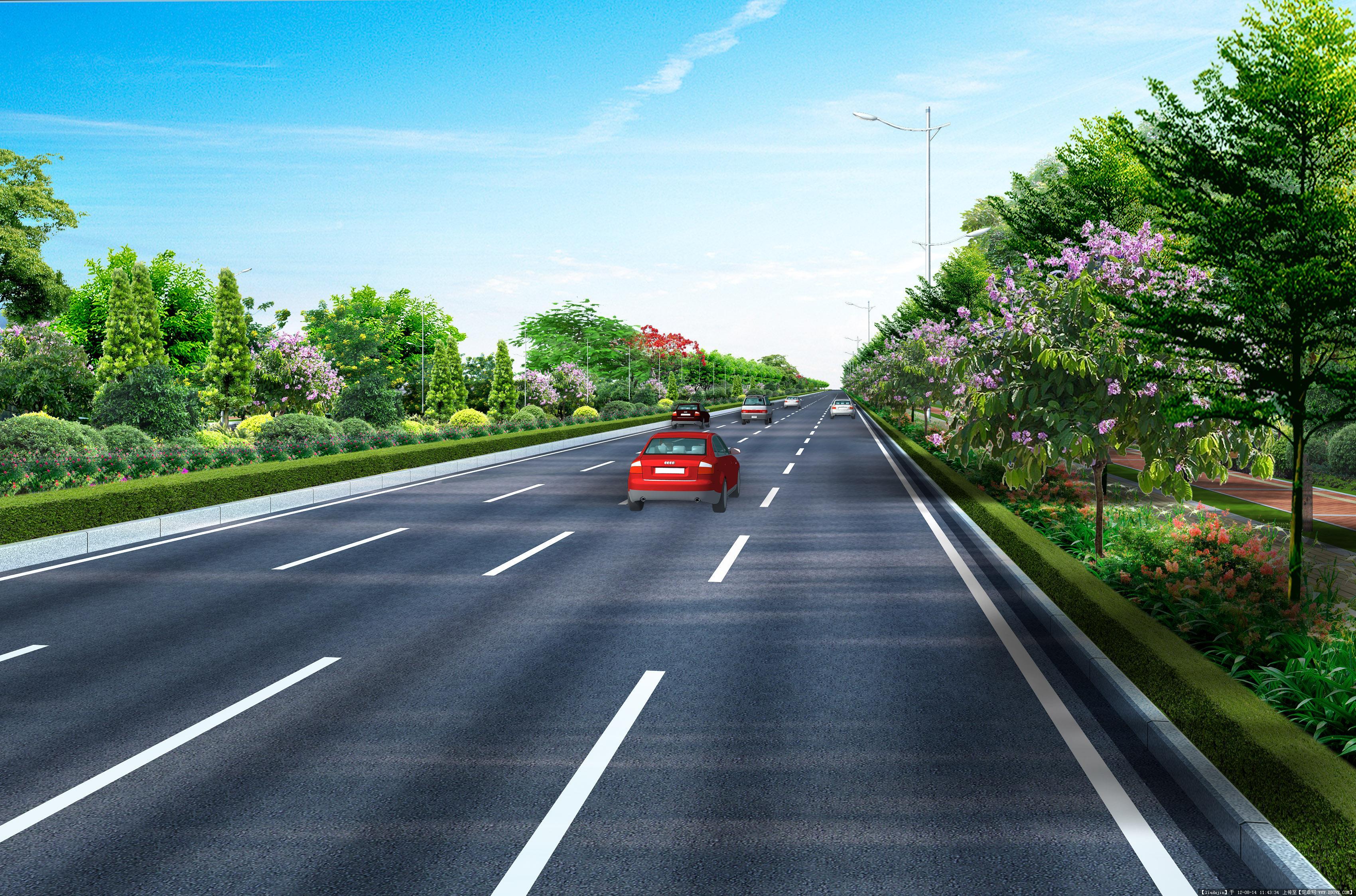 道路绿化设计图-局部透视图jpg