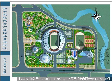 新余文化健身广场园林景观设计-彩平大图