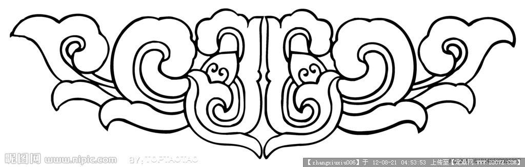 手绘二方连续纹样图片