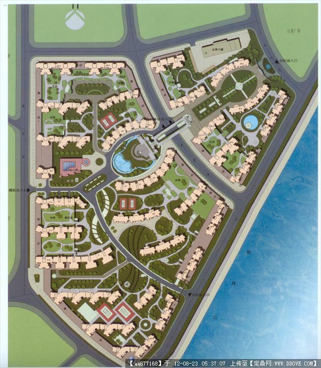规划类高清彩色平面图-牡丹江滨江城市花园.jpg 原始尺寸:1542 * 1769
