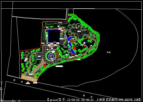 某私人别墅庭院方案总平的下载地址,园林方案设计,,.