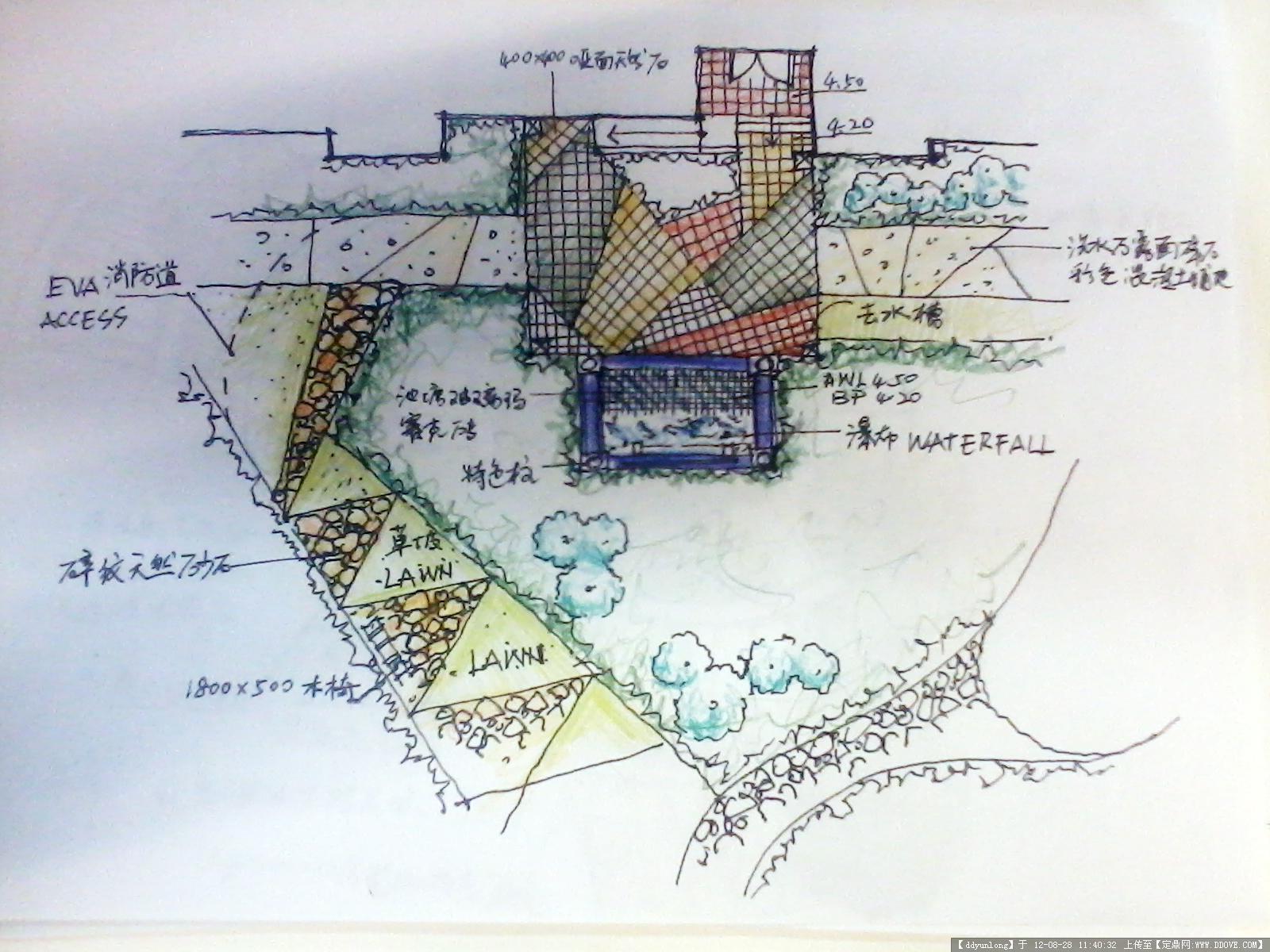 手绘平面图铺装大样的图片浏览,园林节点扩初,地面,.