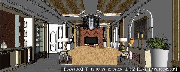 sketchup室内装修模型