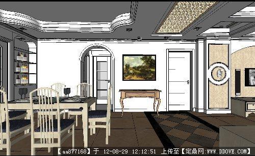 欧式风格室内装饰su精品模型的下载地址图片