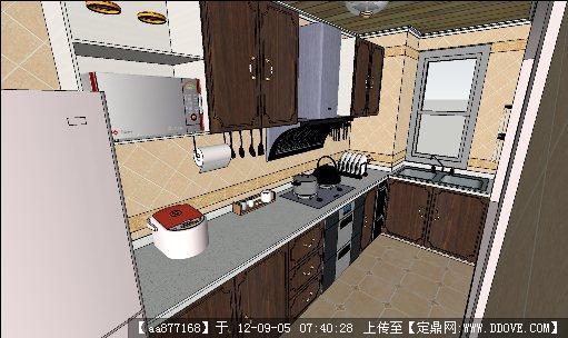 一套超精致的厨房su室内装饰模型