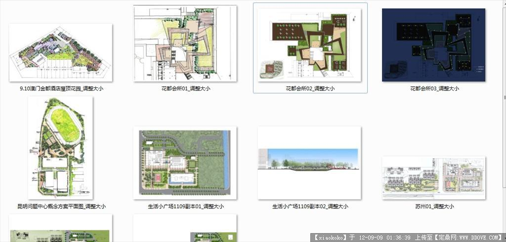 小区 公园 景观设计彩色平面图