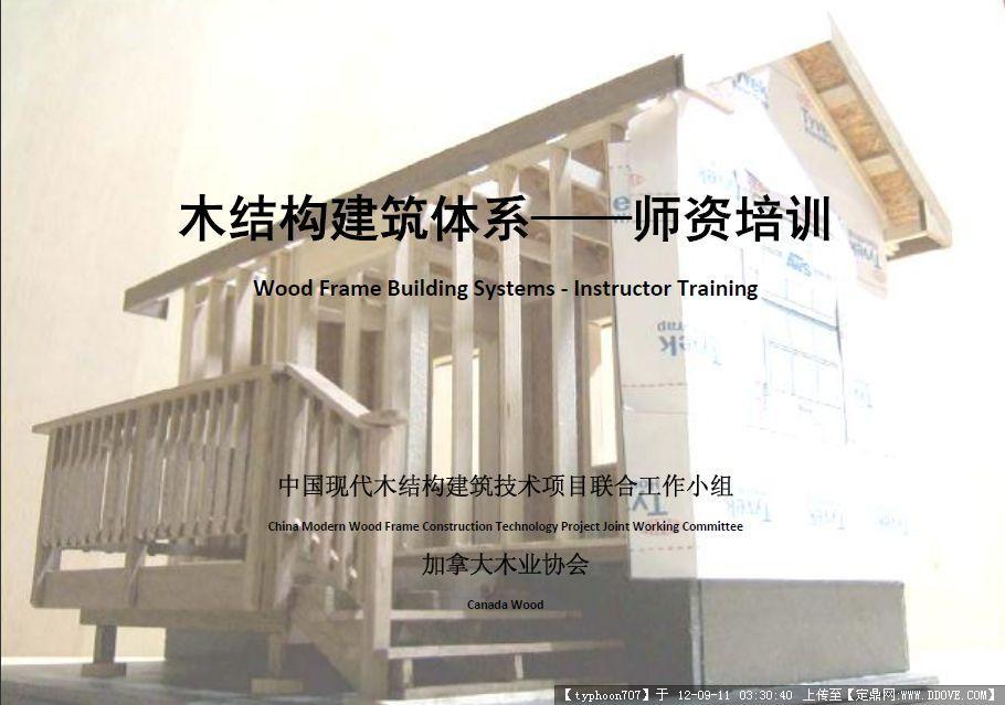 现金下载8元 轻型木结构(平台框架结构系统)是加拿大木结构住宅 应用最为广泛的结构形式。该系统具有结构简洁合 理, 施工快捷等特点, 现已成为国外木结构住宅发展 最快的结构系统和建造方法 第一章木结构建筑简介 A Brief Introduction to Wood Frame Construction------------------------------01 第二章结构用木材 Materials ---------------------------------------------------