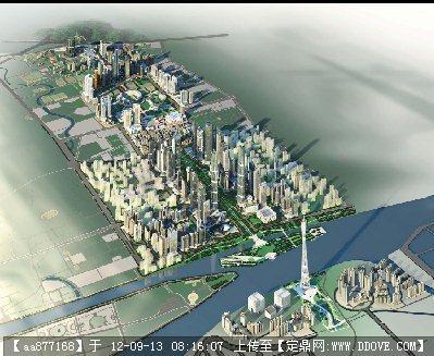 某新城市中轴线北段核心区城市设计整体设计