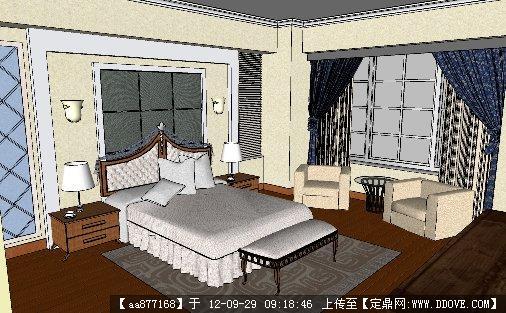 欧式室内家装su精品模型的下载地址图片