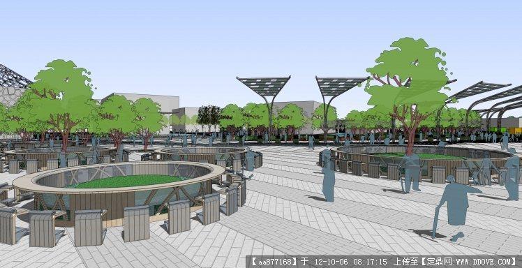 上海世博园景观设计方案su场景精美模型的下载地址