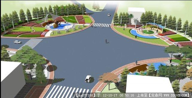 道路节点景观设计 园林景观节点设计 景观节点