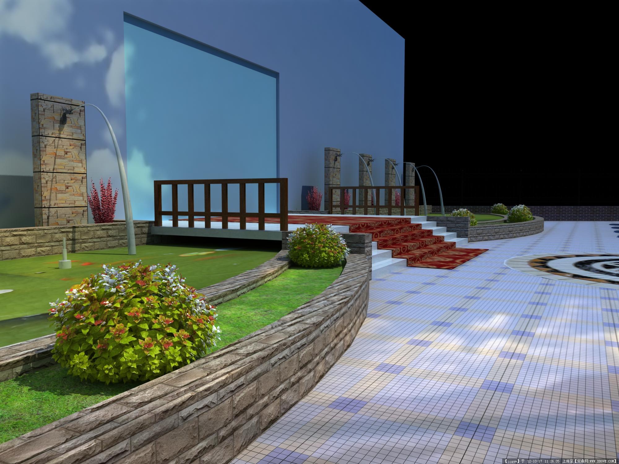 售楼处景观效果图的图片浏览,园林效果图,商业街区,_.