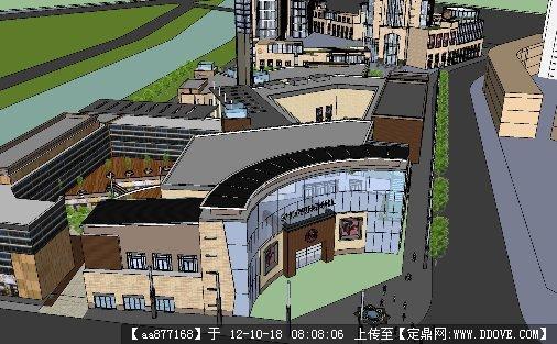 象山商业街建筑与景观规划设计su模型