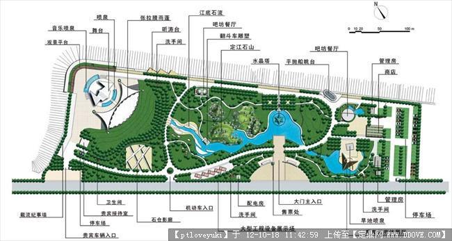 滨水公园快题设计图展示图片