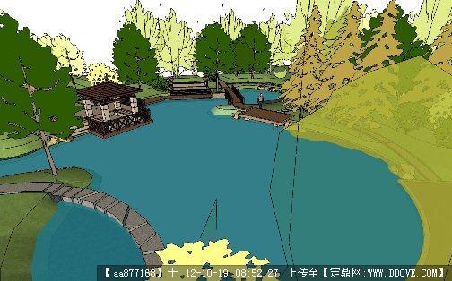 某新古典小区局部节点景观设计su模型的下载地址