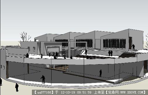 建筑空间设计su精美模型