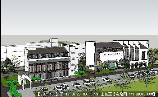 徽派建筑二层办公楼效果图图片 二层办公楼效果图,二层办公