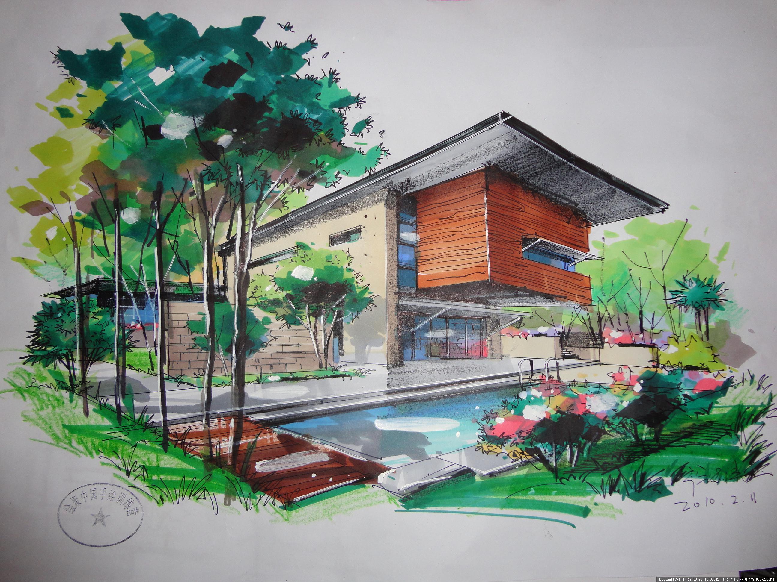 马克笔表现效果图的图片浏览,建筑效果图,手绘建筑图