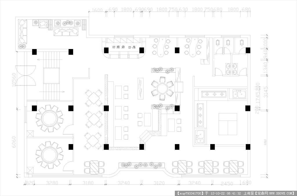 某餐厅设计平面图