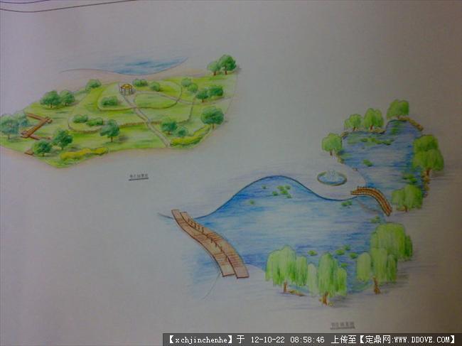 游园手绘效果图