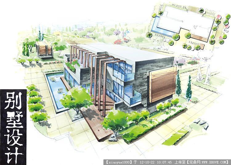 别墅设计手绘图的图片浏览