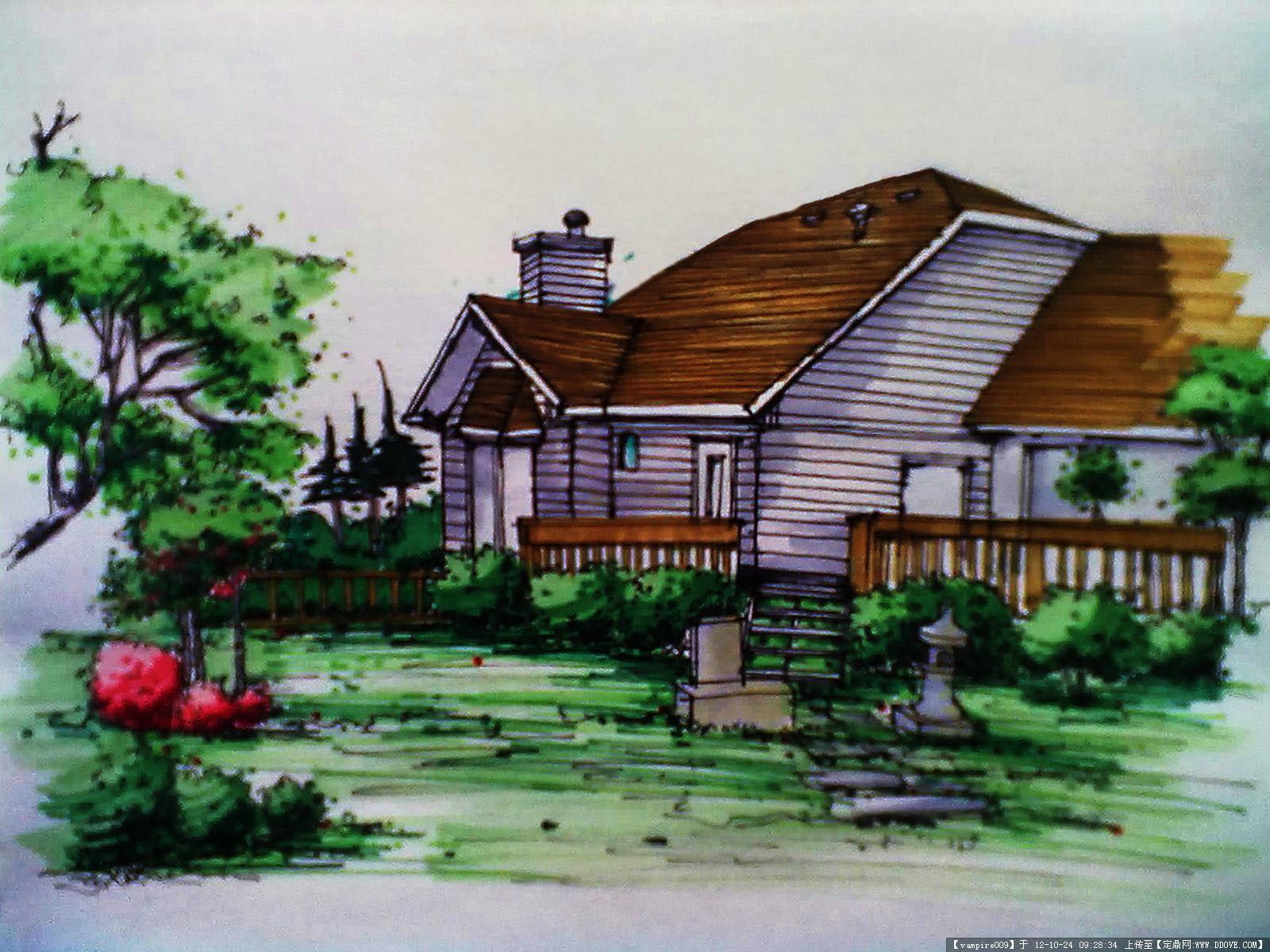 个人的景观手绘的图片浏览,园林效果图,手绘效果,园林