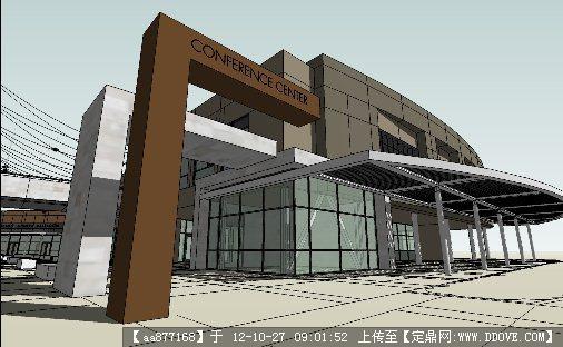 学校礼堂建筑设计su精美模型