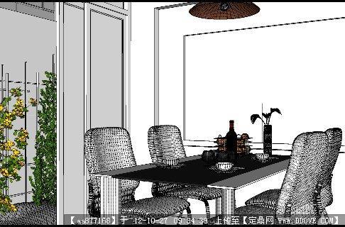小马云资料个人资料_一个餐厅SU精品室内家装模型(附材质贴图)