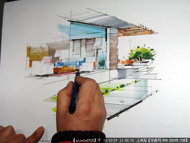 杨健手绘单体家具