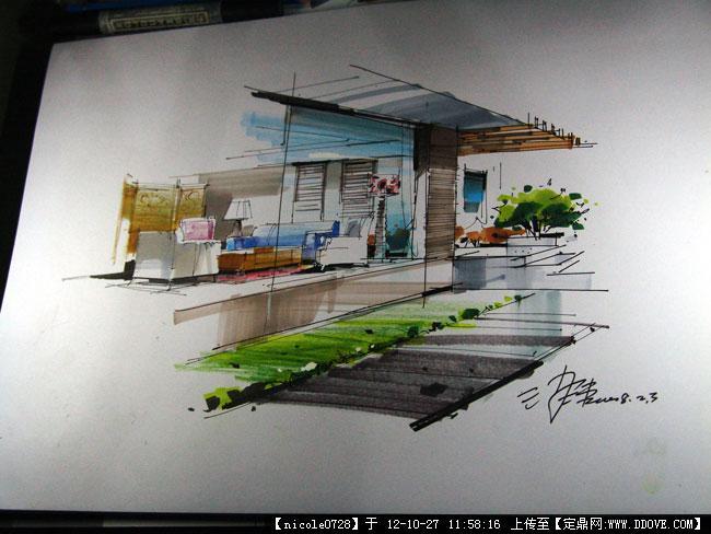 室内设计马克笔上色步骤的下载地址,室内效果图,其他