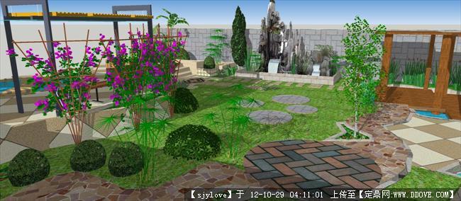 小广场效果图10*10m的下载地址,园林效果图,居住区,_.