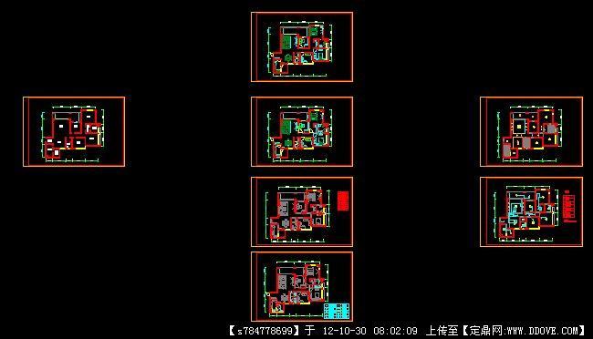 一整套室内设计 五套室内设计图 室内cad制图规范——金螳螂内部制图